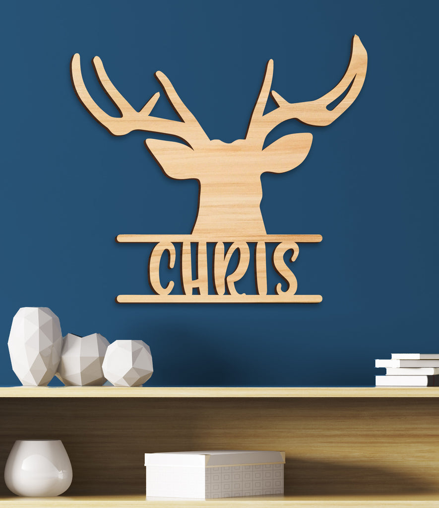 Deer Hunting Nursery Name Sign, Kids Room Decor