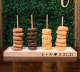 Wooden Donut Stand/  Donut Holder - Wedding Decor Gifts