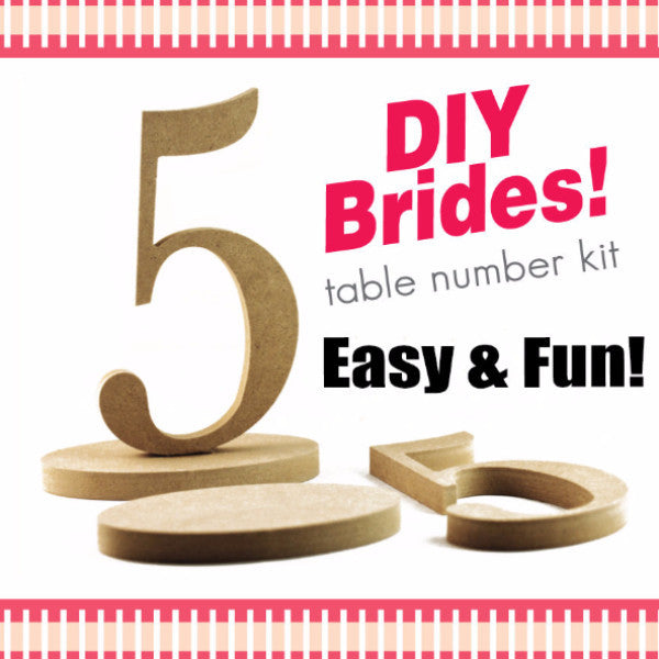 DIY Table Number Kit - Wedding Decor Gifts