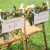 Darling Wife, Loving Husband Chair Signs - Wedding and Gifts