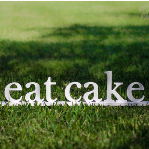 "Wedding Cake Sign ""eat cake"" - Wedding Decor Gifts"
