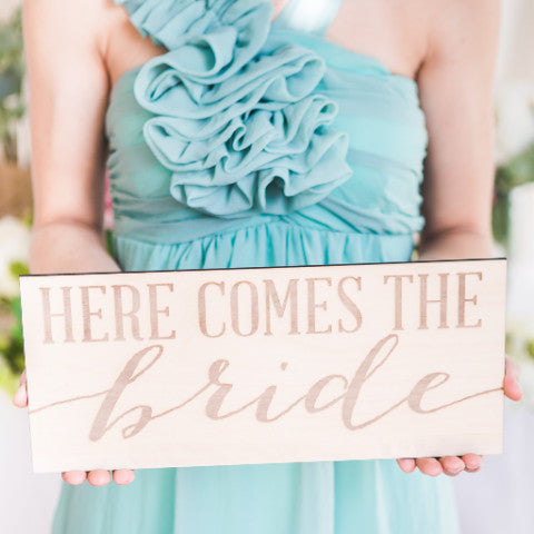 Here Comes the Bride Sign - Wedding Decor Gifts