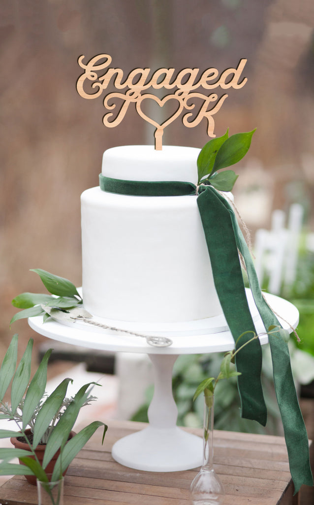 Custom Engaged Cake Topper - Wedding Decor Gifts