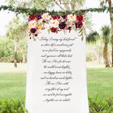 Moody Floral Wedding Aisle Backdrop - Wedding Decor Gifts
