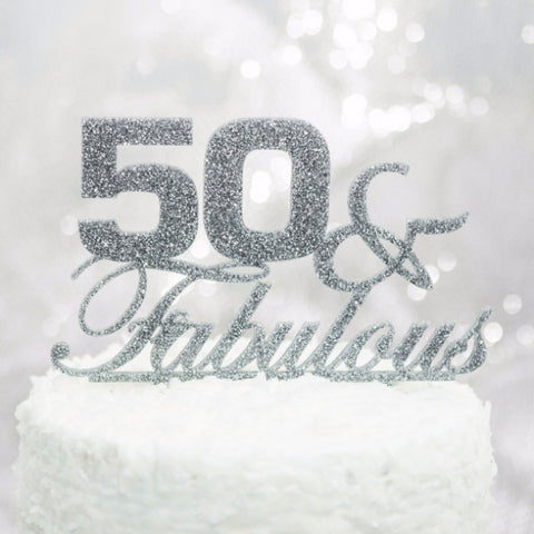 50 & Fabulous Birthday Cake Topper - Wedding Decor Gifts