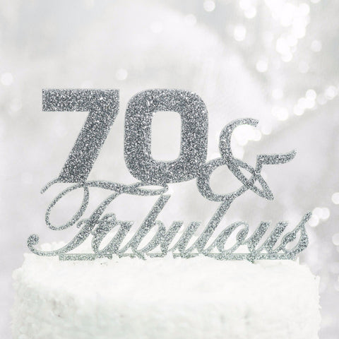 70 & Fabulous Birthday Cake Topper - Wedding Decor Gifts