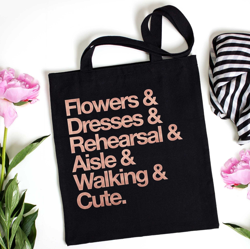 Flower Girl Gift Tote Bag - Wedding Decor Gifts