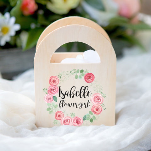 Personalized Wedding Flower Girl Basket