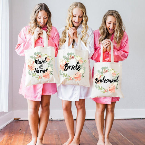Bridal Party Tote Bags - Wedding Decor Gifts
