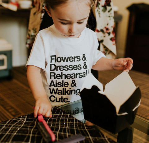 Flower Girl Shirt for Wedding Bridal Party - Wedding Decor Gifts