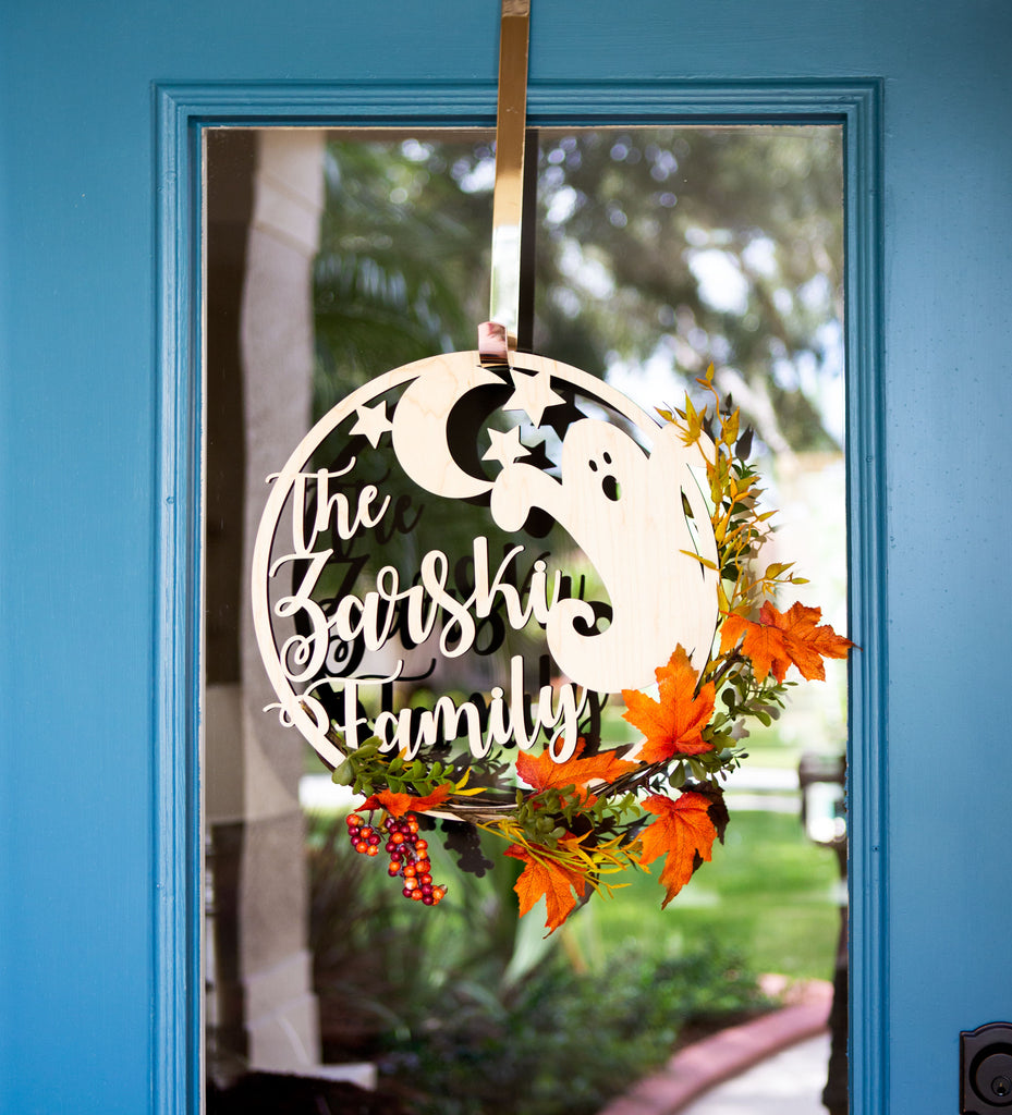 Door Family Fall Decoration Custom Painted Sign - Wedding Decor Gifts