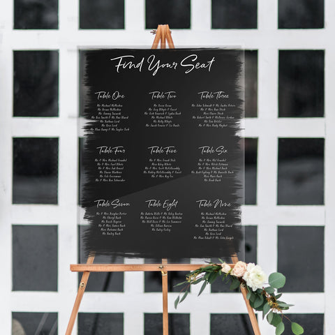 Painted Wedding Seating Chart - Wedding Decor Gifts