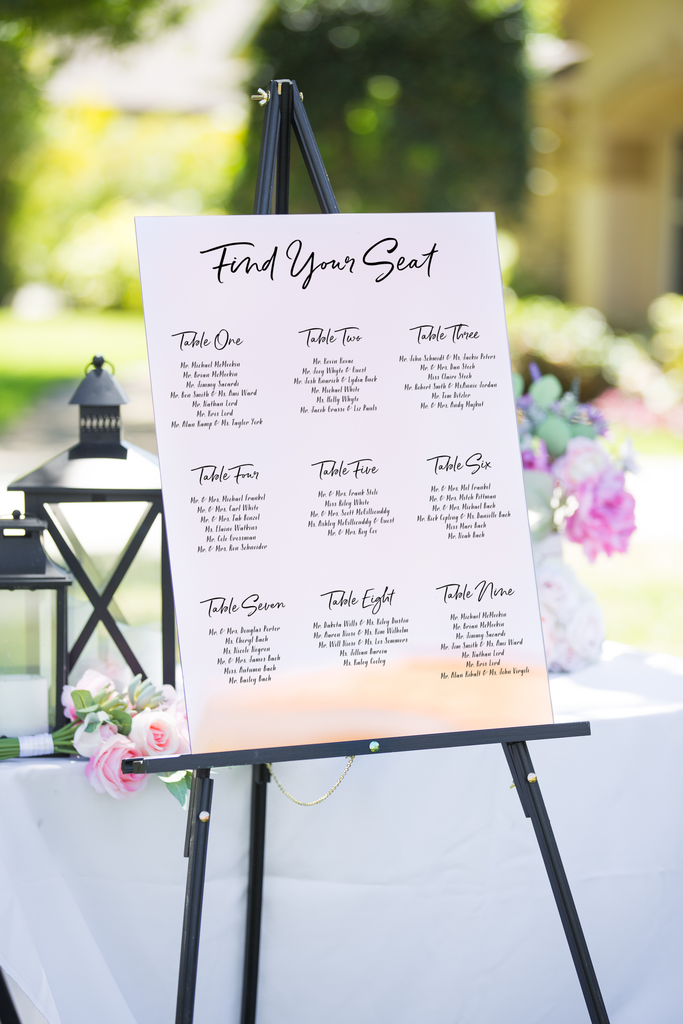 Seating Chart Wedding Signs - Wedding Decor Gifts