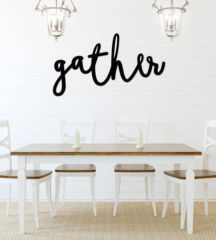 "Dining Room Artwork ""gather"" Cute Home Decor"