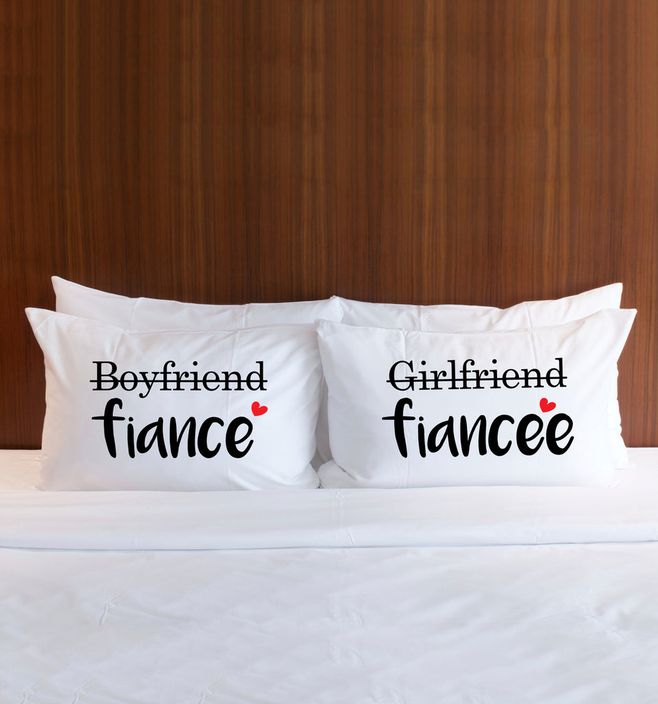 Engagement Gift Fiance Pillowcases - Wedding Decor Gifts