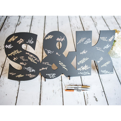 Wooden Letters Wedding Guestbook