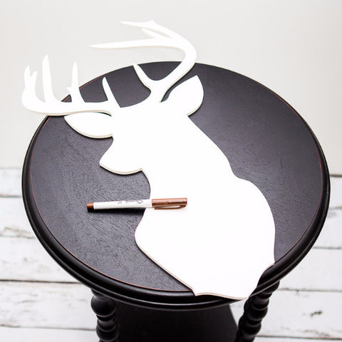 Buck Silhouette Guestbook - Wedding Decor Gifts