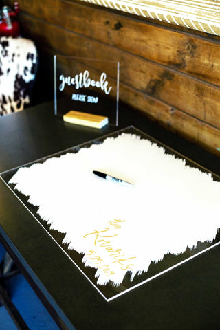 Guest Book Sign, Clear Acrylic/Paint Style - Wedding Decor Gifts