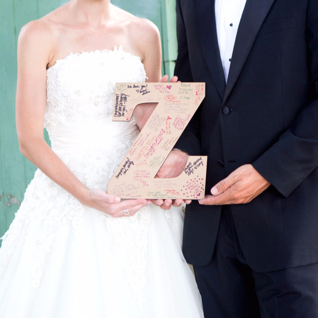 Small Monogram Guestbook Letter - Wedding Decor Gifts