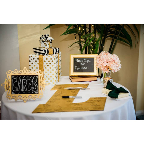 medium monogram guestbook letter wedding decor gifts