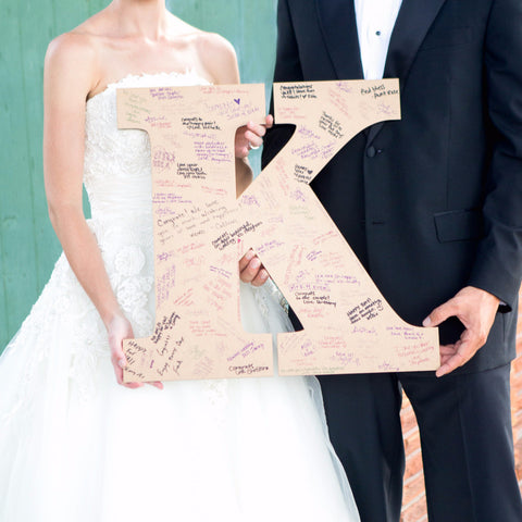 Large Monogram Guestbook Letter