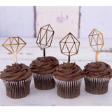 Gem Cupcake Toppers - Wedding Decor Gifts