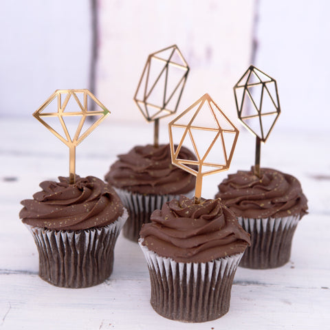 Gem Cupcake Toppers - Wedding and Gifts