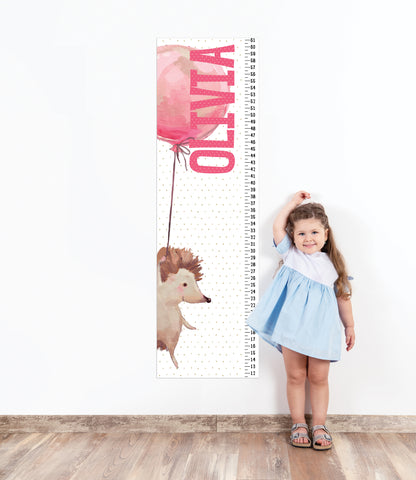 Growth Chart for Girls' Bedroom Decor, Measuring Sticker, Height Chart Wall Decal