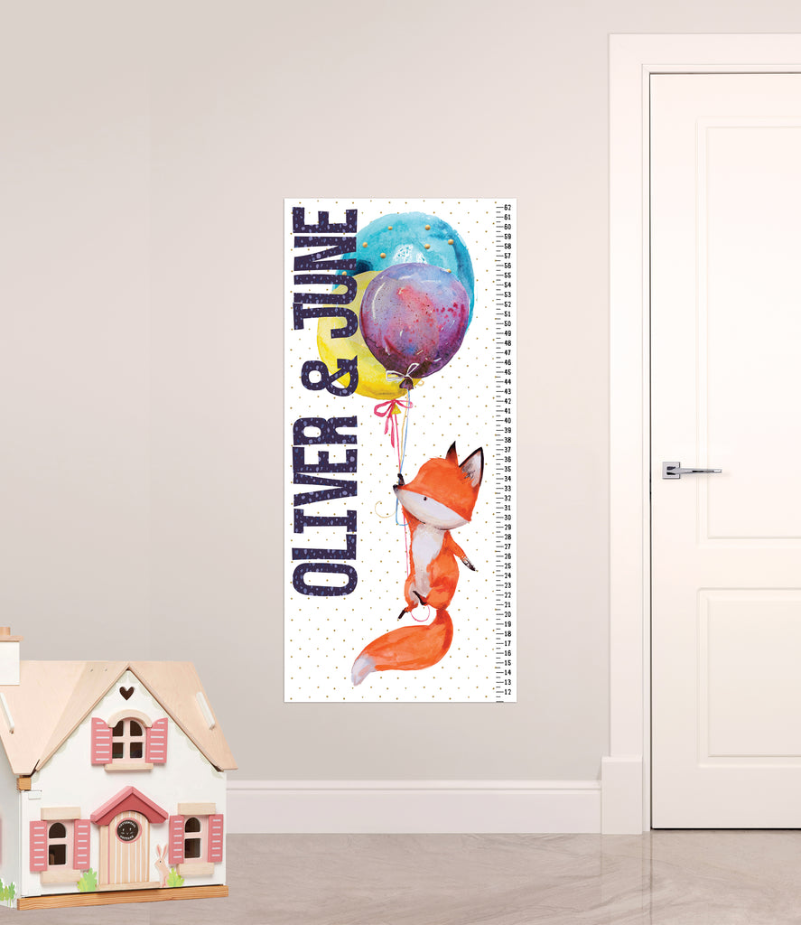 Growth Chart for Kids' Bedroom Decor, Measuring Sticker, Height Chart