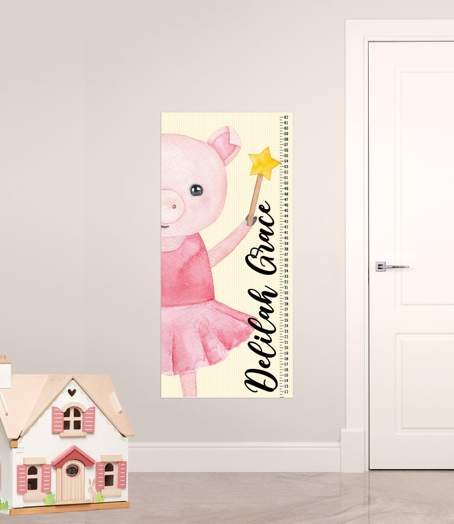 Growth Chart for Kids' Bedroom Decor, Measuring Sticker, Chidren's Height Chart