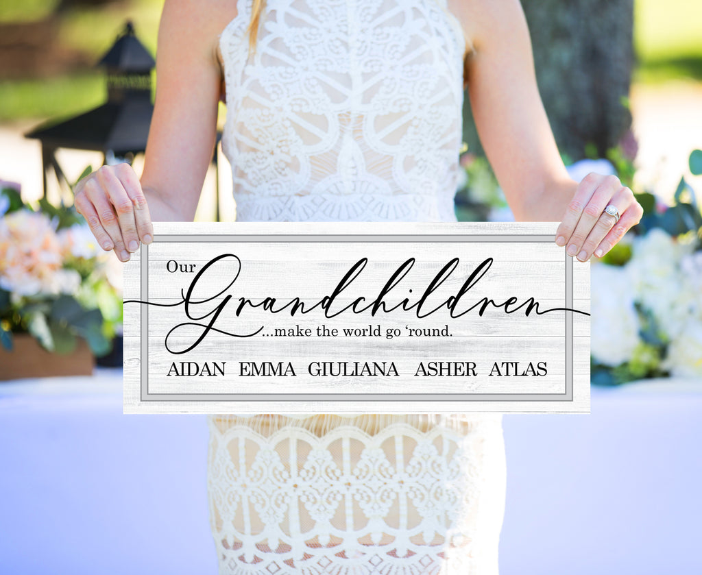 Grandparents Board with Names Grandparents Gift - Wedding Decor Gifts