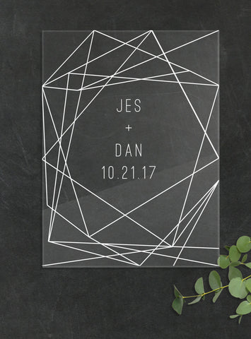 Geometric Lines Wedding Welcome Sign Z Create Design