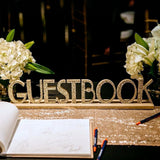 Gatsby Style Guest Book Sign - Wedding Decor Gifts