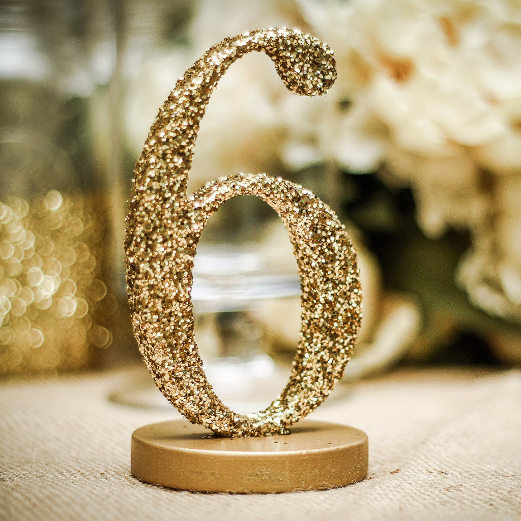 Glitter Table Numbers - Wedding Decor Gifts
