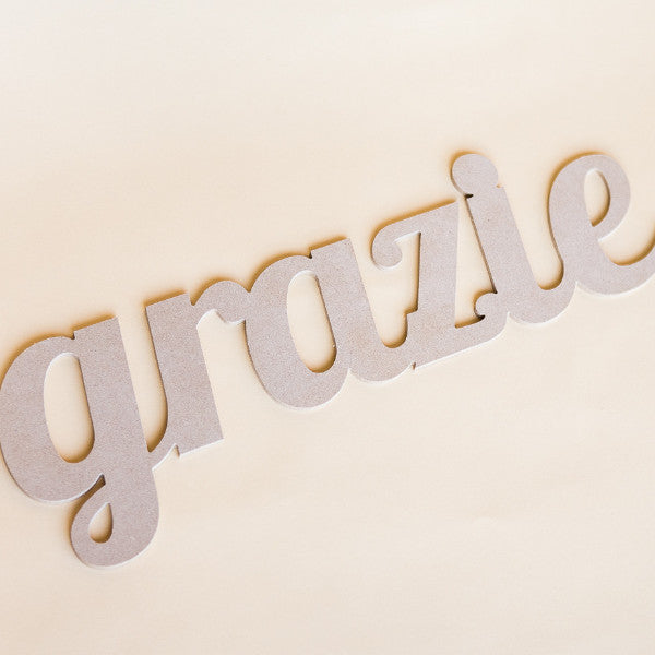 Grazie Sign Italian Thank You - Wedding Decor Gifts