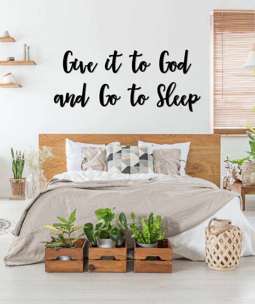 Give to God Sleep Letters for Wall Decor Bed Letters