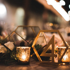 Geometric Table Numbers - Wedding Decor Gifts