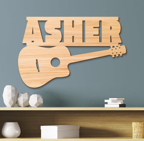 Guitar Kids Room Sign, Kids Room Decor