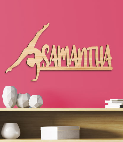 Gymnastics Girl's Room Sign, Gymnastic Sign Girls