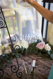 Personalized Clear Acrylic Wedding Guestbook - Wedding Decor Gifts