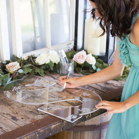 Clear Acrylic Wedding Guestbook Monogram Letter - Wedding Decor Gifts