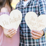 Engagement Sign Photo Prop - Wedding Decor Gifts