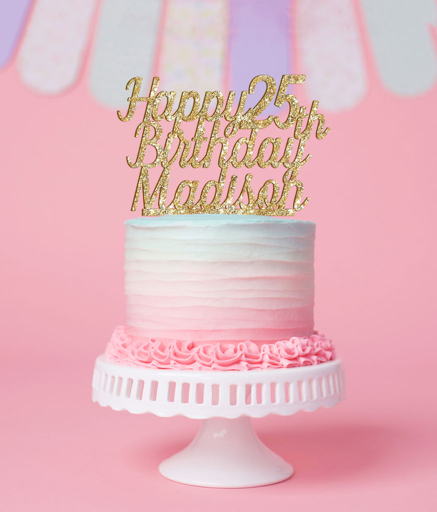 Personalized Birthday Cake Topper for Birthday with Age - Wedding Decor Gifts