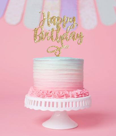 Happy Birthday Cake Topper - Wedding Decor Gifts
