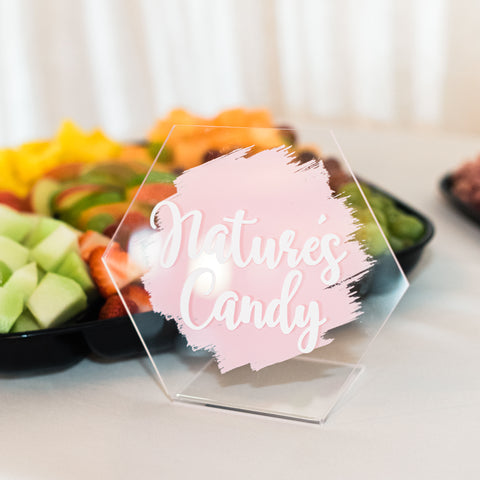 Food Name Signs, Food Tents, Buffet Labels, Food Name Cards, Clear Acrylic Wedding Signs, Wedding Table Signs, Buffet Table Signs