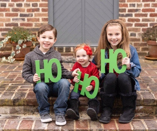 "Holiday Card Photo Prop ""Ho Ho Ho"" - Wedding Decor Gifts"