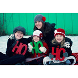 Ho Ho Ho Holiday Card Photo Prop Signs - Wedding Decor Gifts