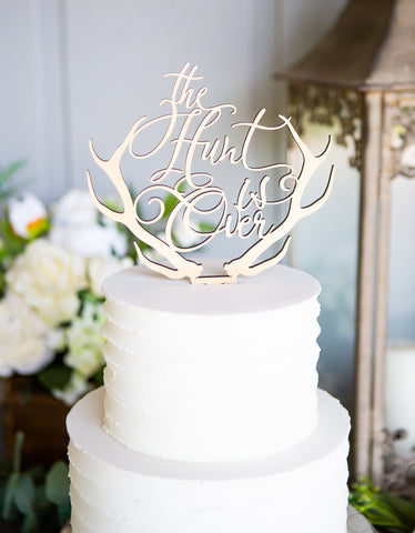 Hunting Themed Wedding Cake Topper