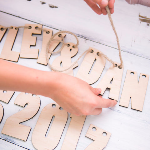 Wooden DIY Banner Letters - Wedding Decor Gifts