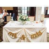 Mr and Mrs Table Banner Signs - Wedding Decor Gifts